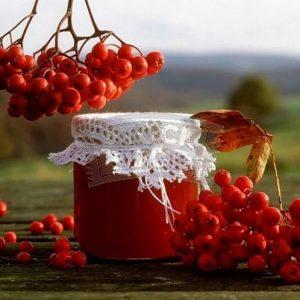 Варенье из красной рябины с грецким орехом очень полезно и вкусно!