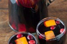 Клюквенная сангрия — довольно простой рецепт!