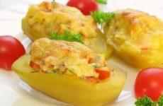 Фаршированный картофель — вкусно и красиво!