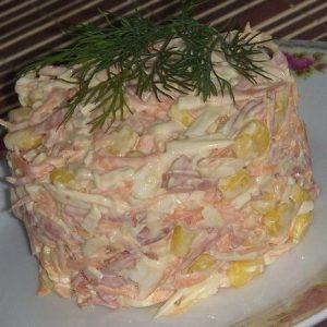 Быстрый и вкусный салат с копченым сыром!
