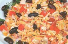 Салат «фасолька» — готовится очень быстро, простой и вкусный!