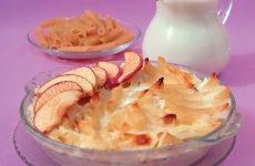 Макаронная запеканка с яблоками — это несложное в приготовлении, но очень вкусное блюдо!