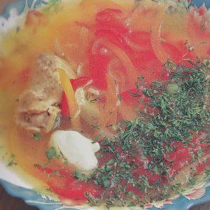 Суп куриный с болгарским перцем — удачное сочетание!