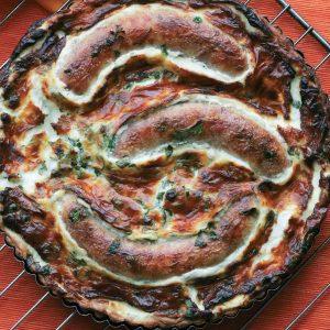 Пирог с сосисками в тесте — чудо пирог!