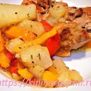 Цыпленок в топленом масле с картофелем — самый простой вариант!