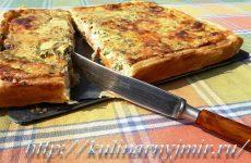 Вкусный и сытный пирог с брокколи и сыром!