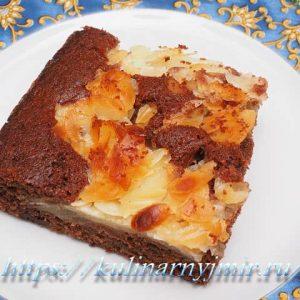 Медовый пирог с грушами — нежный, очень вкусный!