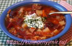 Борщ черниговский — наваристый, ароматный и густой…