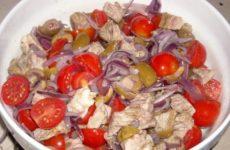 Итальянский мясной салат — необычный, свежий, но сытный…