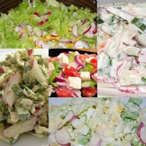 5 салатиков с редисом!