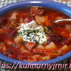 Борщ московский —  рецепт яркого и ароматного первого блюда!