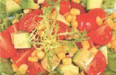 Салат с авокадо и кукурузой — витаминный, яркий, полезный и очень вкусный!