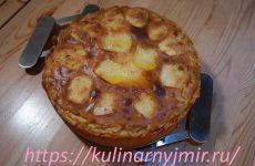 Запеканка творожная с яблоками — вкусный десерт!