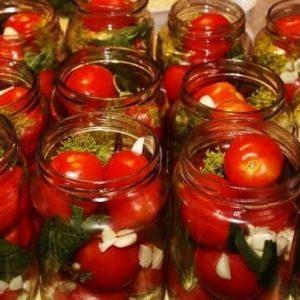 Помидорыс мятой — получаются ароматными и вкусными!
