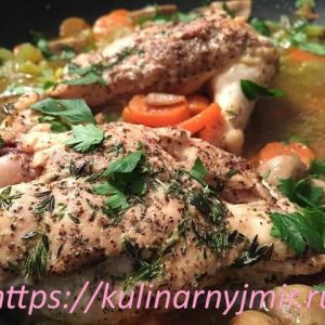 Курица, фаршированнаясвининойи грибами — вкусно, впрочем-как и всегда!
