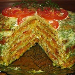 Тортик из кабачков — весьма вкусное и презентабельное угощение!