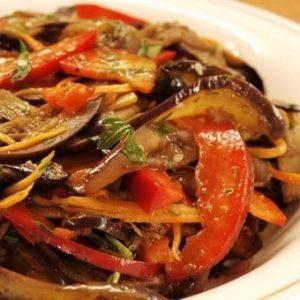 Хе из баклажанов — вкусный и яркий салат-закуска!